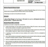 Principal Contractor Appointment Letter