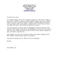 Home Health Physical Therapist Cover Letter
