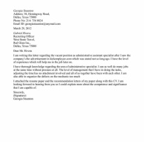 Education Administrative Assistant Cover Letter