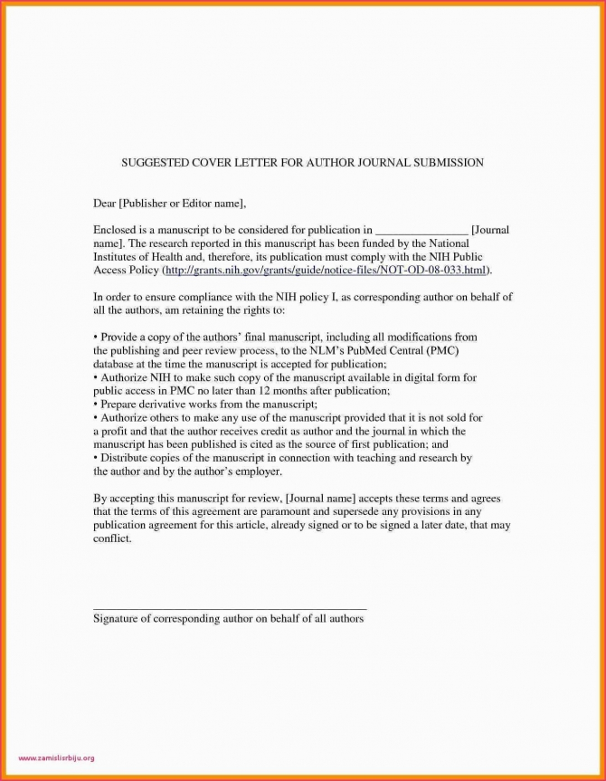 Cover Letter To Editor Of Journal Cover Letter To Editor Of