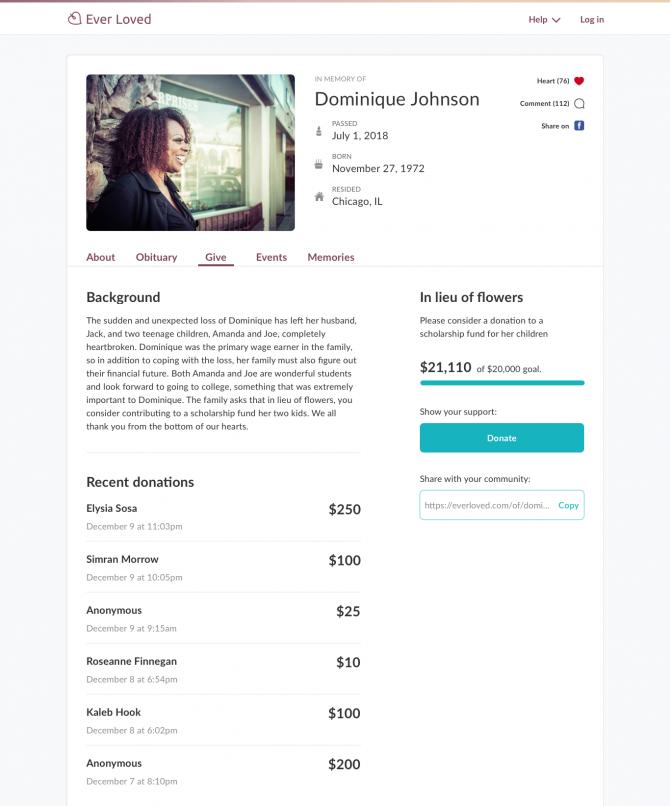 Create A Memorial Fund