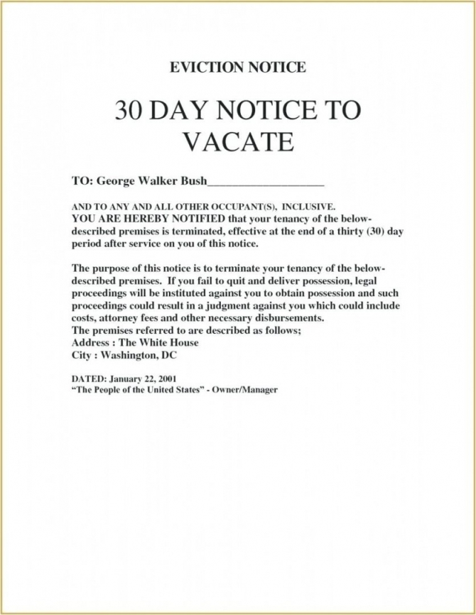Day Notice Letter To Landlord Giftedpaperco  Day Notice To