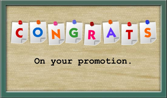 Delightful Congratulations On Promotion Pictures