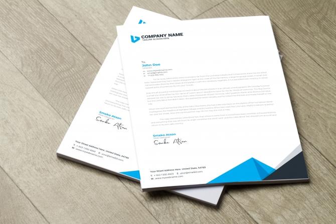 Design A Professional Letterhead Template By Obwebdesigns