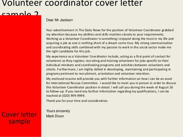 Education Program Coordinator Cover Letter
