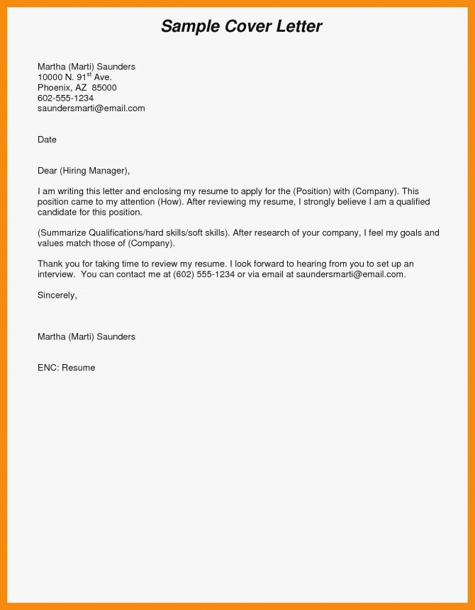 Email Cover Letter In