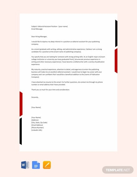 Email Cover Letter Templates