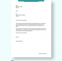 Eviction Letter To Family Member