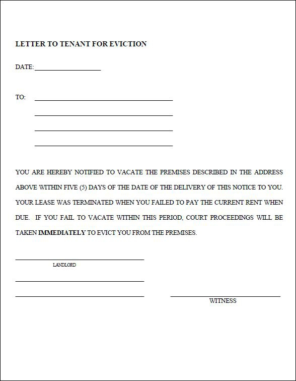 Eviction Notice Templates