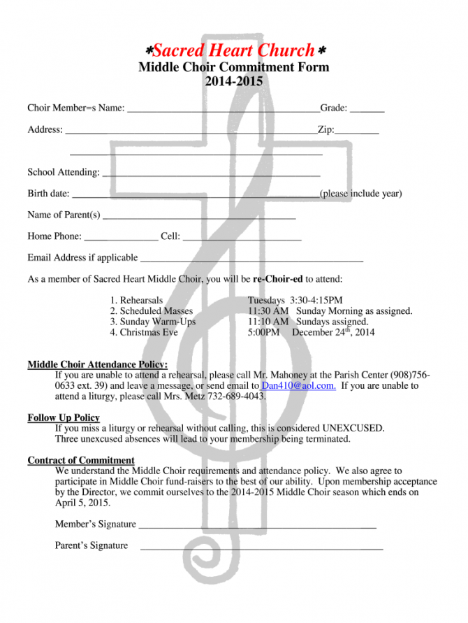 Example Of An Application Letter To Join A Choir