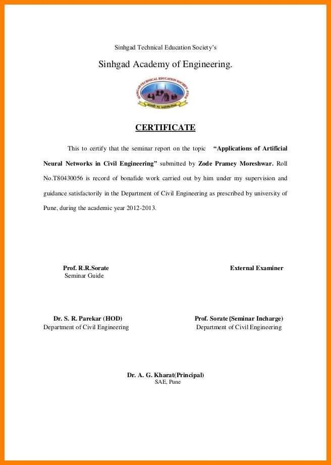 Experience Certificate For Civil Engineer Doc