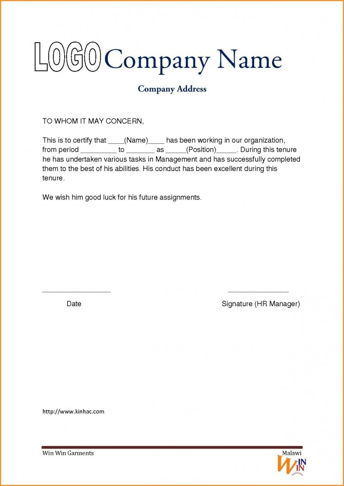 Experience Certificate Format Driverdoc New Experience Certificate