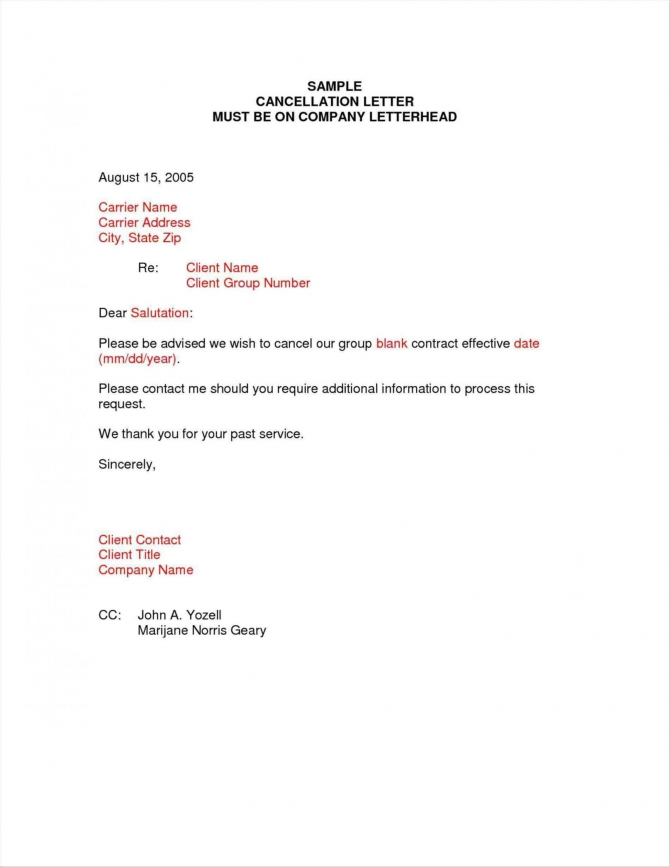 Explore Our Example Of Gym Membership Cancellation Letter Template
