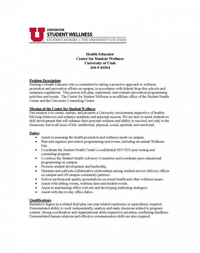 Explore Our Example Of Public Health Cover Letter Template In