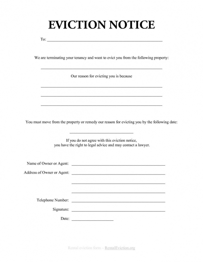 Family Eviction Letter Template In