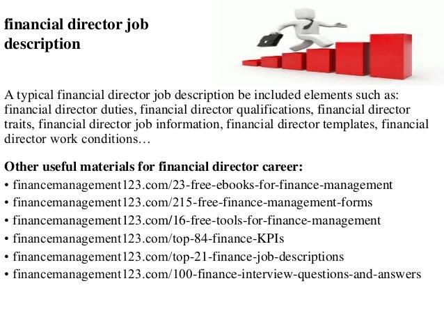 Financial Director Job Description