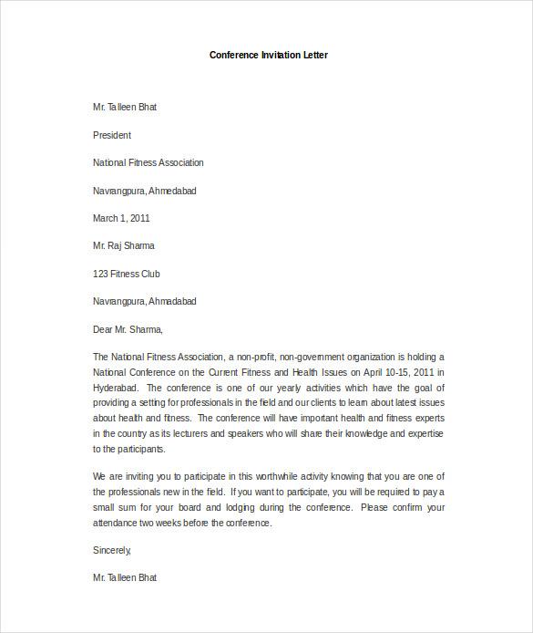 Formal Invitation Letter Meeting