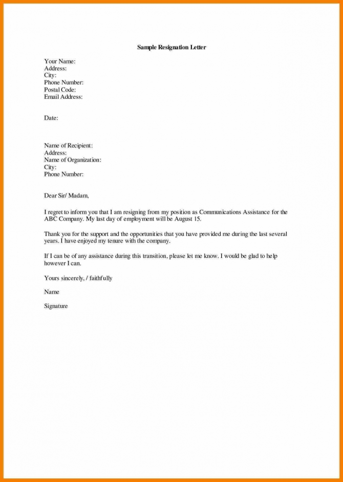 Format Of Resignation Letter By Director Save Resignation Letter