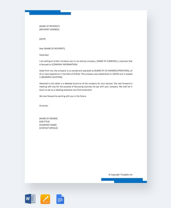Free  Company Introduction Letter Templates In Ms Word