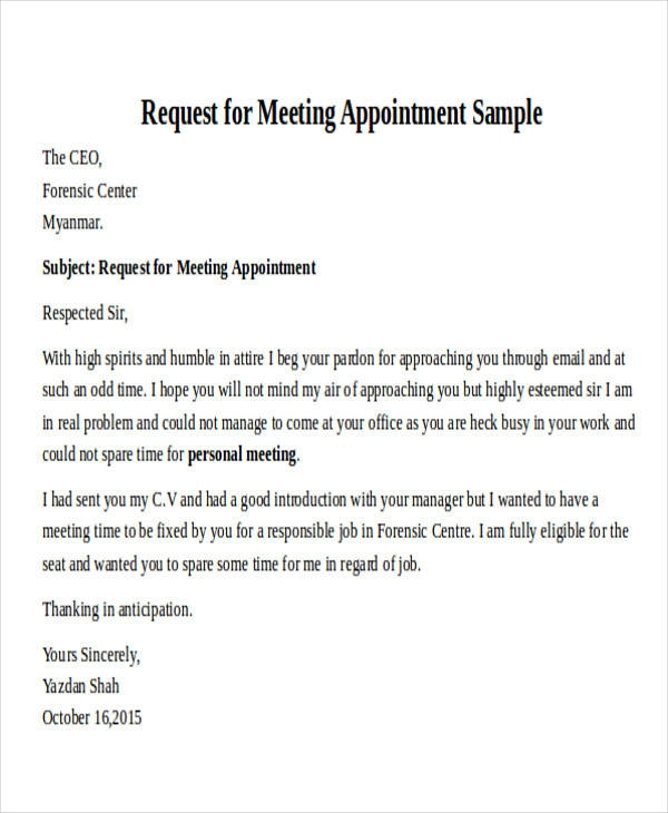 Free  Formal Request Letter Templates In Pdf