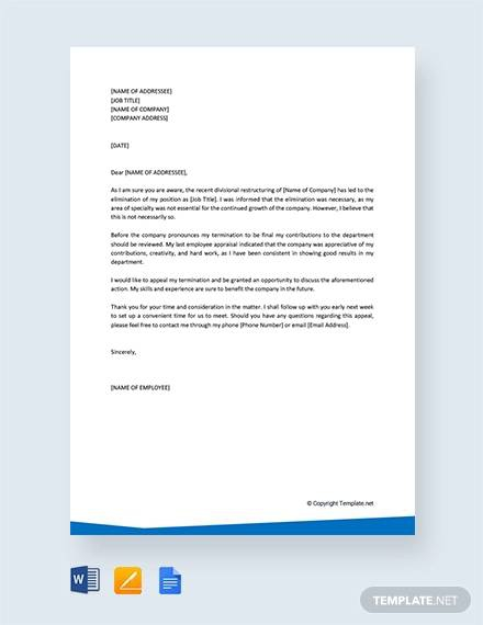 Free  Sample Example Of Appeal Letter Templates In Pdf