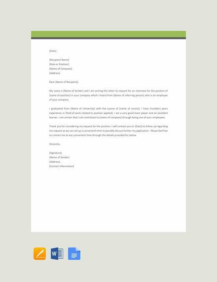 Free  Sample Formal Request Letter Templates In Pdf