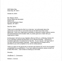 Interview Acknowledgement Letter