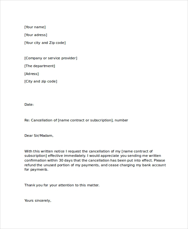 Free  Sample Notice Letter Templates In Pdf