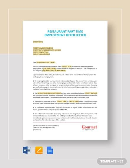 Free  Sample Offer Letter Templates In Pdf
