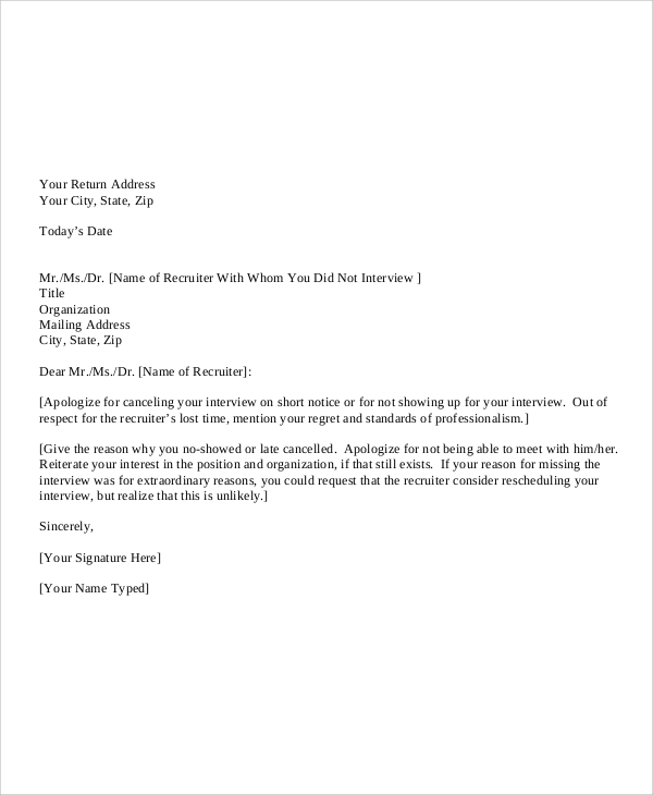 Free  Sample Personal Apology Letter Templates In Pdf