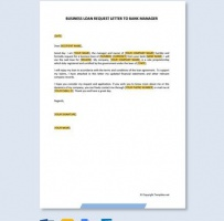 New Business Loan Request Letter To Bank Manager