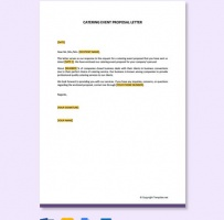 Catering Event Proposal Letter