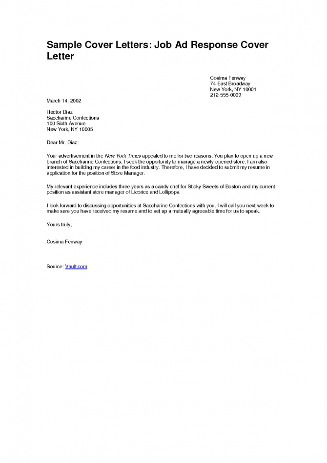 Free Cover Letter In