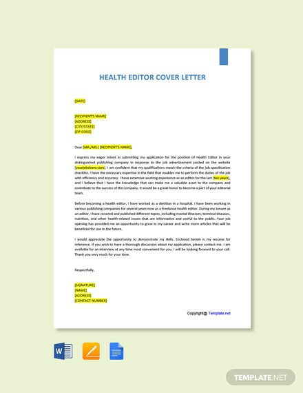 Free Editor Cover Letter Templates