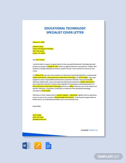Free Education Letter Templates