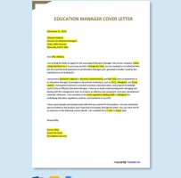 Education Manager Cover Letter