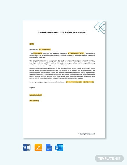 Free Formal Proposal Letter To School Principal Template
