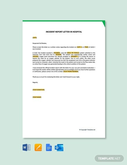 Free Incident Report Letter