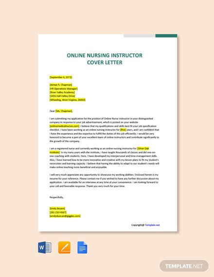 Free Instructor Cover Letter Templates