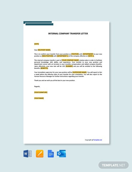 Free Internal Company Transfer Letter Template