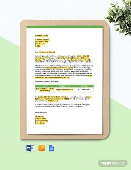 Free It And Software Letter Templates