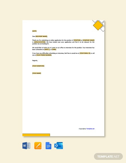 Free Job Interview Invitation Letter Template