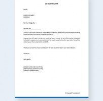 Job Relieving Letter