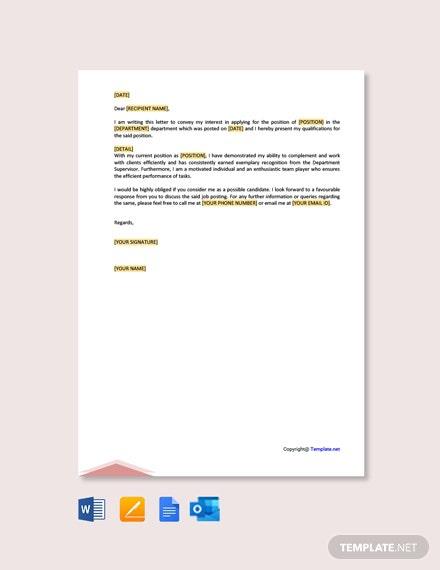 Free Letter Of Interest For Internal Job Posting Template
