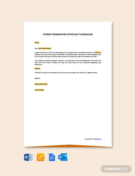 Free Patient Termination Letter Templates