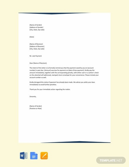 Free Payment Reminder Letter Template