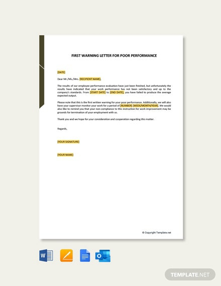 Free Performance Letter Templates