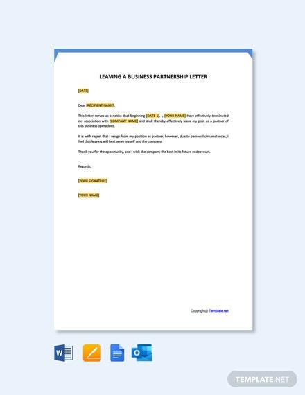 Free Regret Leaving Resignation Letter Template