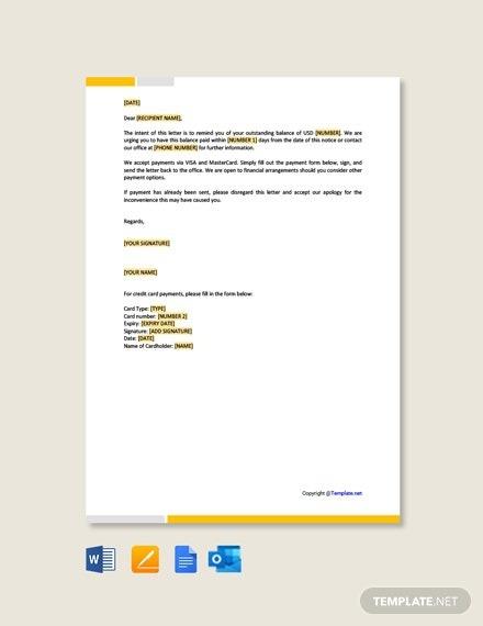 Free Reminder Letter Format Template
