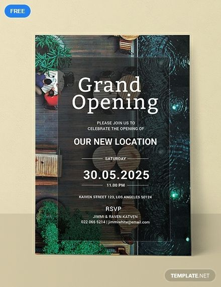 Free Restaurant Grand Opening Invitation Template